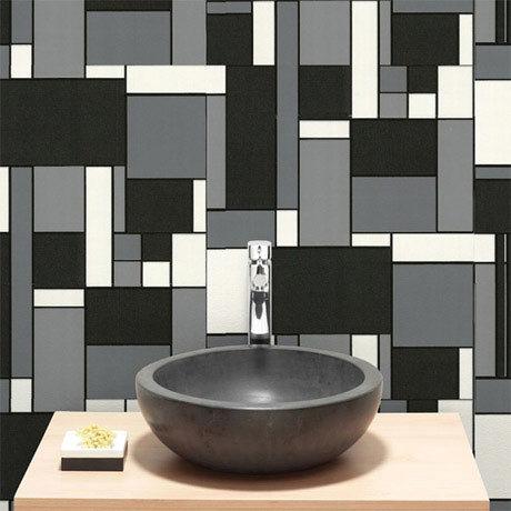 Graham & Brown - Geo Bathroom Wallpaper - 17166 | 17 Stylish Bathroom Wallpaper Ideas
