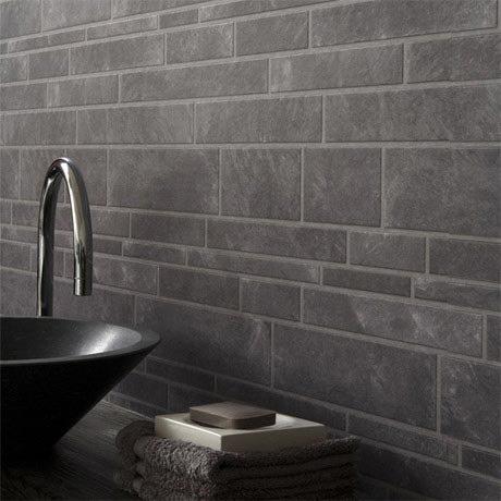 graham & brown grey slate bathroom wallpaper   victorian