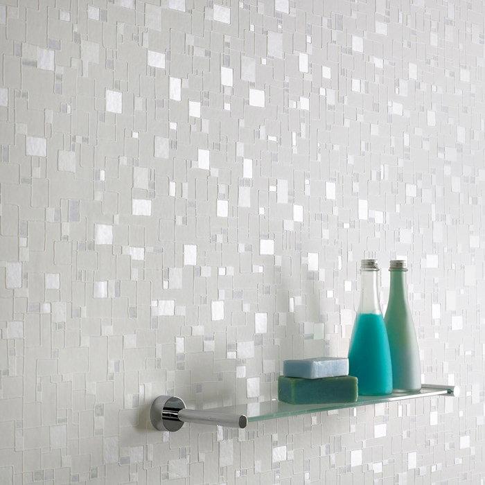 Graham Brown Kitchen Bathroom Wallpaper: Graham & Brown Spa Shimmer Bathroom Wallpaper