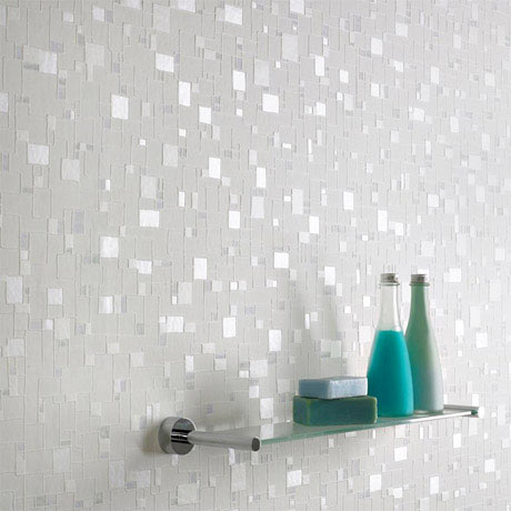 Graham & Brown - Spa Shimmer Bathroom Wallpaper - 16634