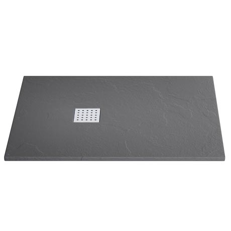 Imperia Graphite Slate Effect Rectangular Shower Tray 1200 x 800mm Inc. Waste
