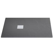 Imperia Graphite Slate Effect Rectangular Shower Tray 1200 x 900mm Inc. Waste Medium Image
