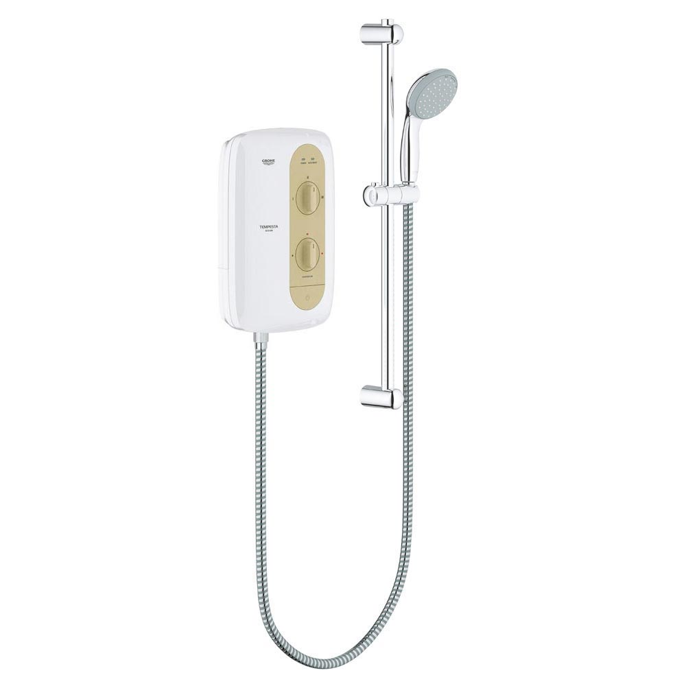 Grohe New Tempesta 100 9.5kW Pressure Stabilized Electric Shower - Natural Sandstone - 26222000 Larg