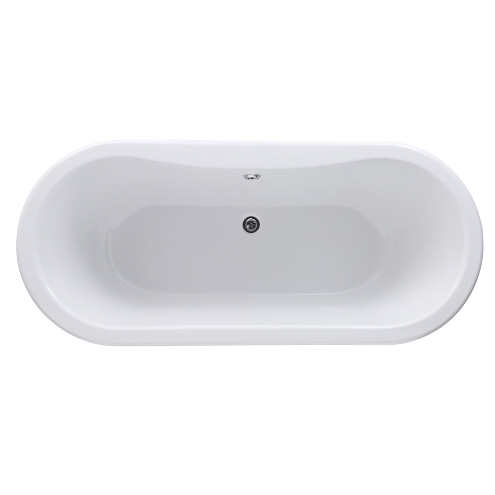 Premier Grosvenor 1700 Double Ended Roll Top Bath Inc. Chrome Legs Profile Large Image