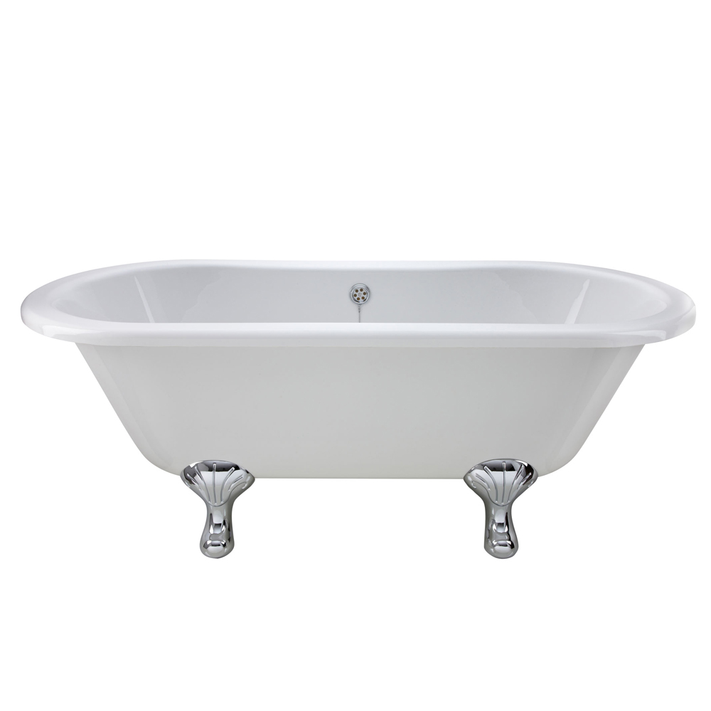 Premier Grosvenor 1700 Double Ended Roll Top Bath Inc. Chrome Legs Feature Large Image