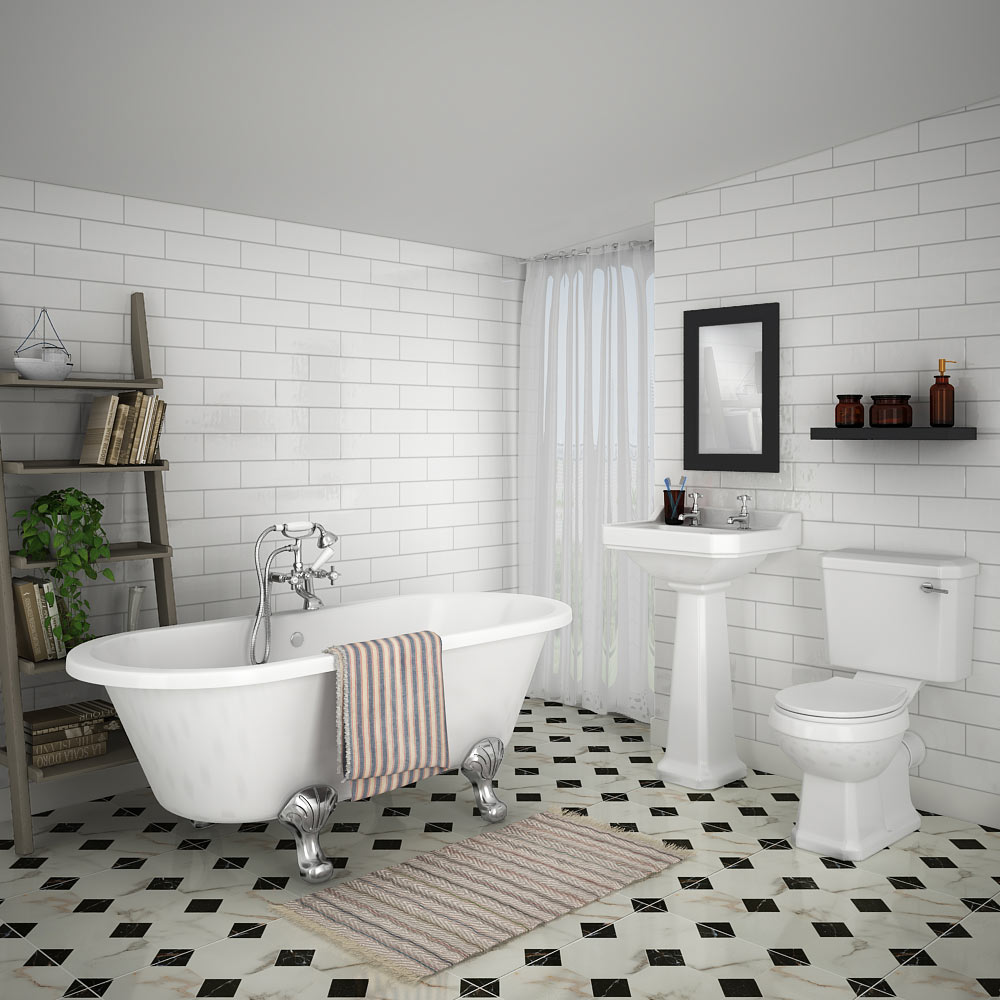 Grosvenor Roll Top Bath Suite Traditional Bathroom Suites