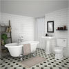Grosvenor Traditional Double Ended Roll Top Bath Suite (1700mm) profile small image view 1