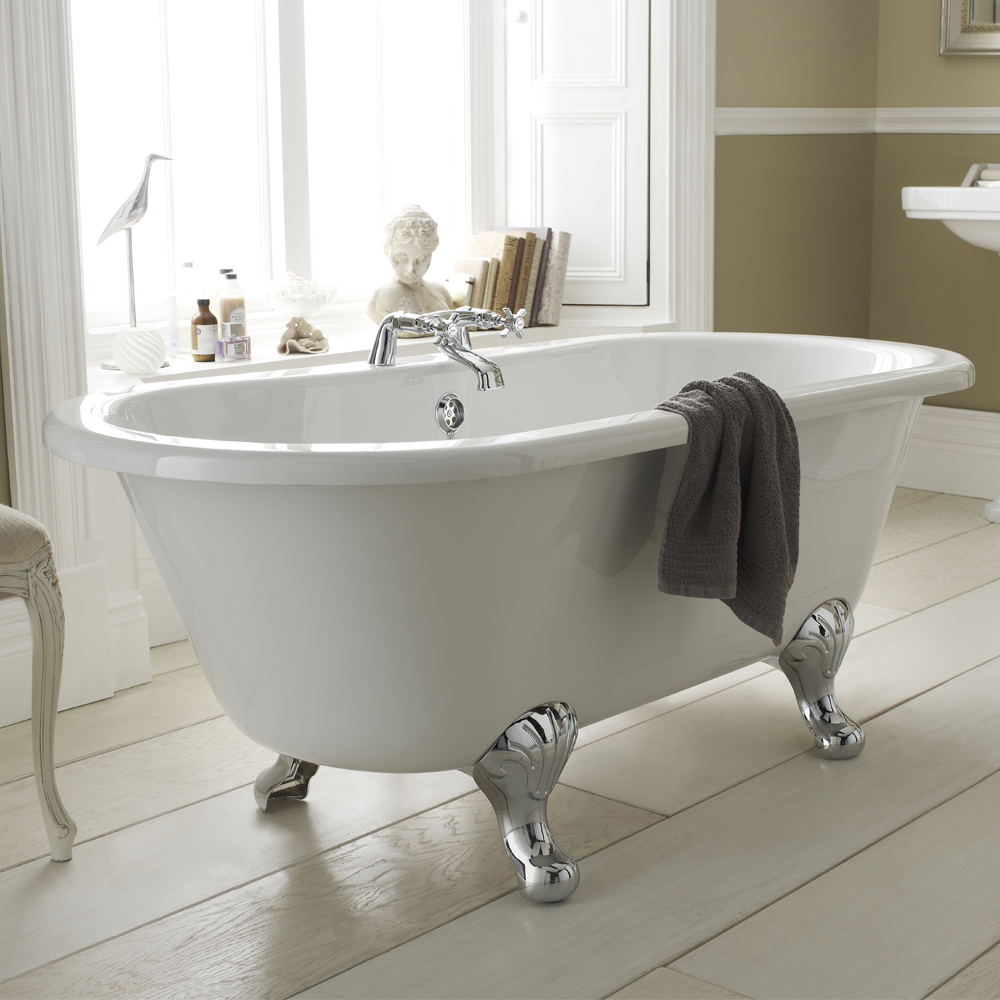 grosvenor traditional double ended roll top bath suite 1700mm