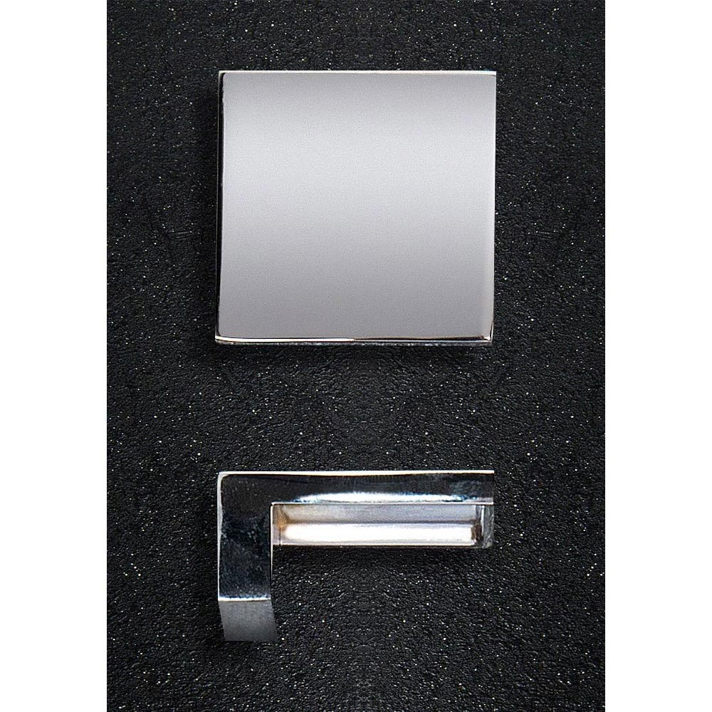 Hudson Reed Square Chrome Furniture Handle (50 x 23mm) - H098 Large Image