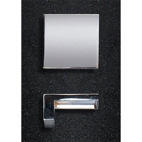 Hudson Reed Square Chrome Furniture Handle (50 x 23mm) - H098