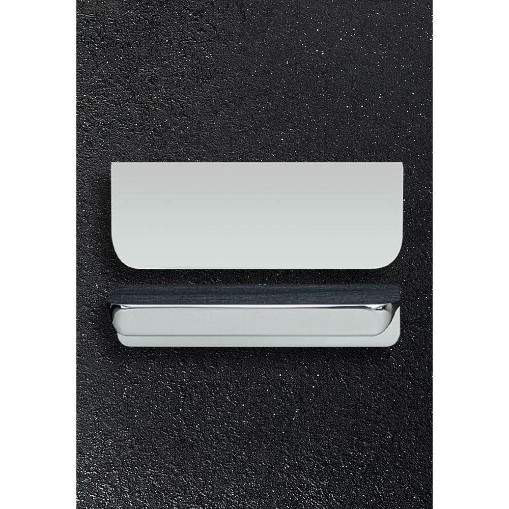 Hudson Reed Large Rear Fixed Chrome Furniture Handle (100 x 37 x 21mm) - H100 profile large image view 1