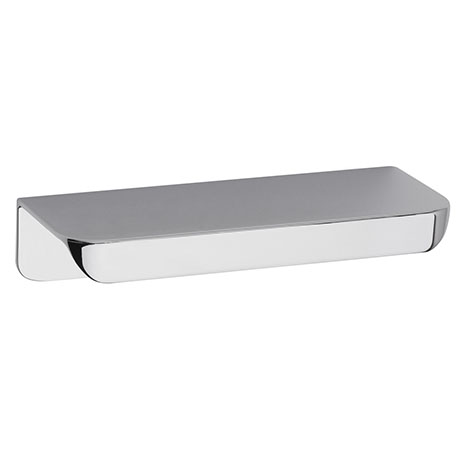 Hudson Reed Large Rear Fixed Chrome Furniture Handle (100 x 37 x 21mm) - H100