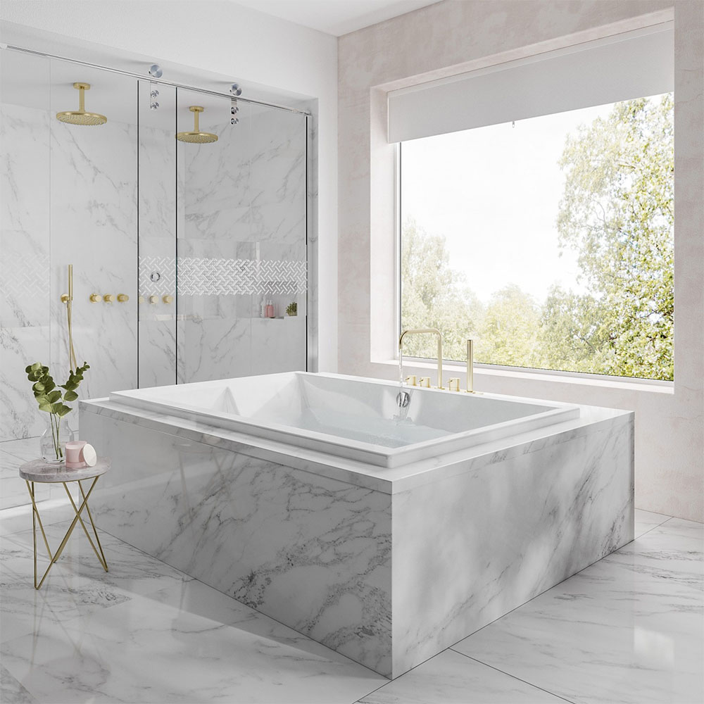Harmony 1800 x 1200 Large Super Deep Two-Person Inset Bath