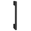1 x Slim-Line D Matt Black Additional Handle - L150mm (128mm Centres) profile small image view 1