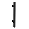 1 x Round 'T' Bar Matt Black Additional Handle - L155mm (96mm Centres) profile small image view 1