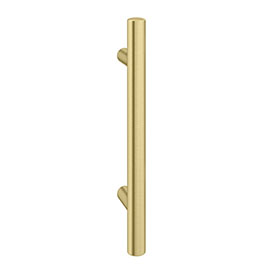 1 x Round 'T' Bar Brushed Brass Additional Handle - L155mm (96mm Centres)