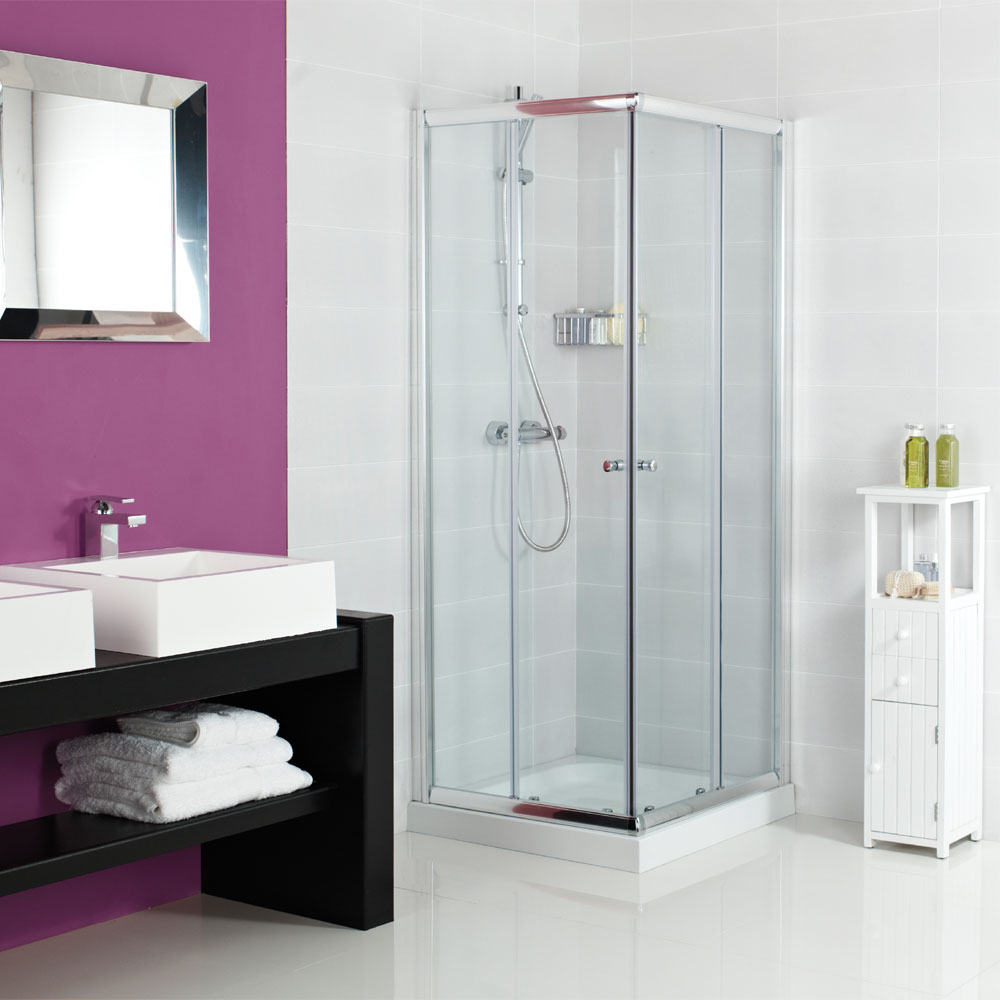 Roman Haven Offset Corner Entry Shower Enclosure Large Image