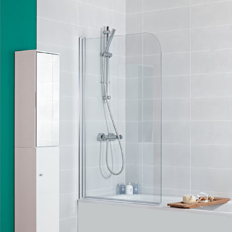Roman Haven Curved Bath Screen - H2D2CS