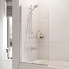 Roman Haven Curved Bath Screen - H2D2CS profile small image view 1