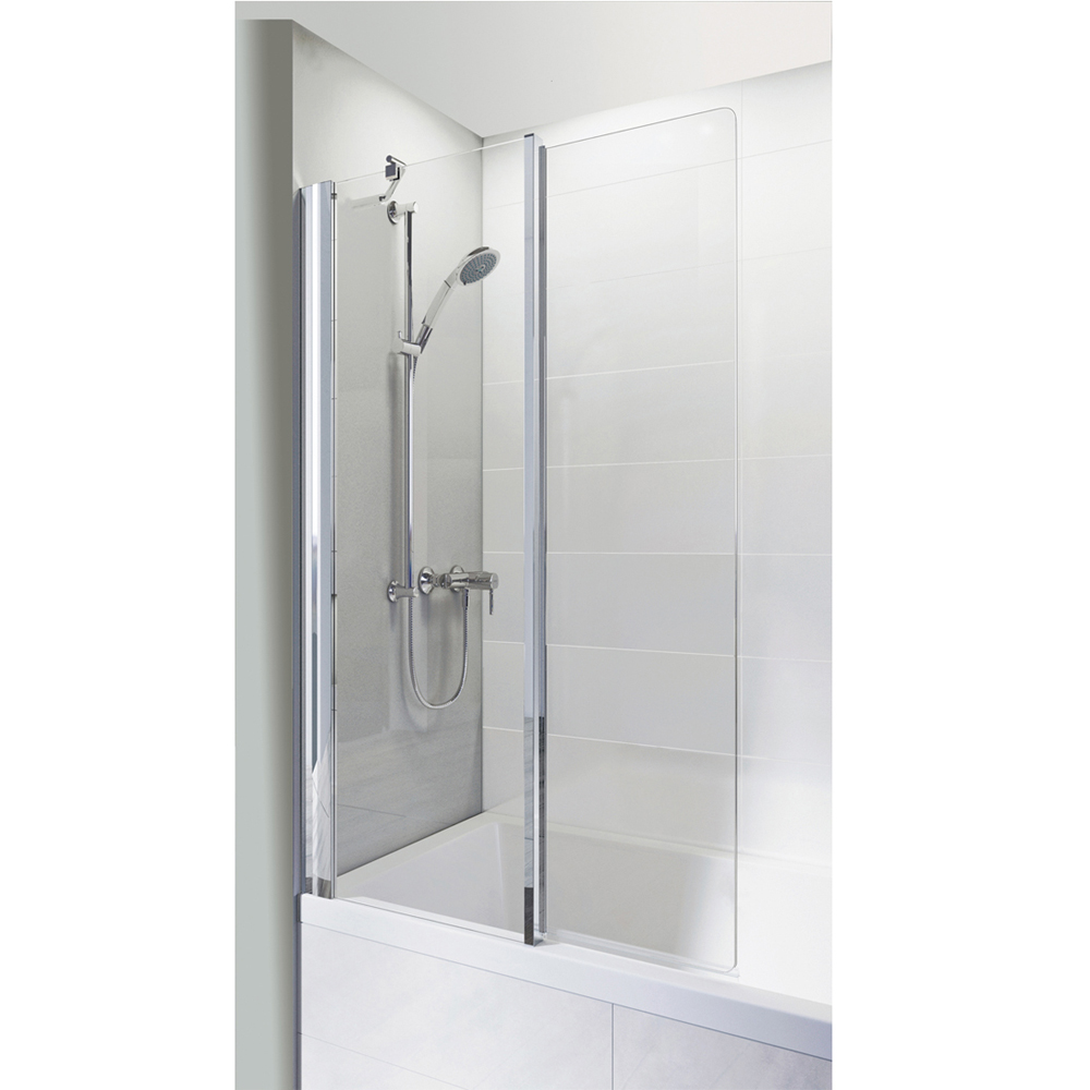 Roman Haven Inward Folding Bath Screen - H2D6CS profile large image view 1