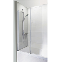 Roman Haven Inward Folding Bath Screen - H2D6CS Medium Image