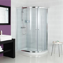 Roman Haven Two Door Offset Quadrant Shower Enclosure Medium Image