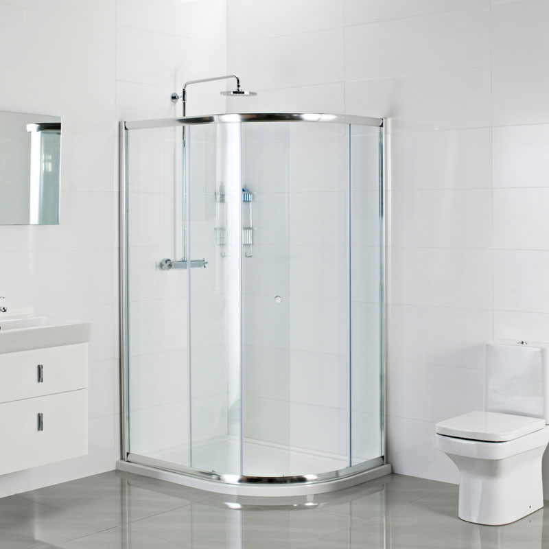 Roman Haven One Door Offset Quadrant Shower Enclosure Standard Large Image