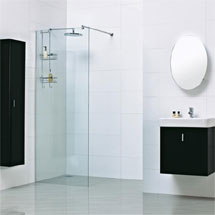 Roman Haven 8mm Corner Wetroom Panel Medium Image