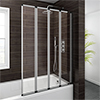 Haro Folding Bath Screen (1000mm Wide - 4 Fold Concertina) profile small image view 1