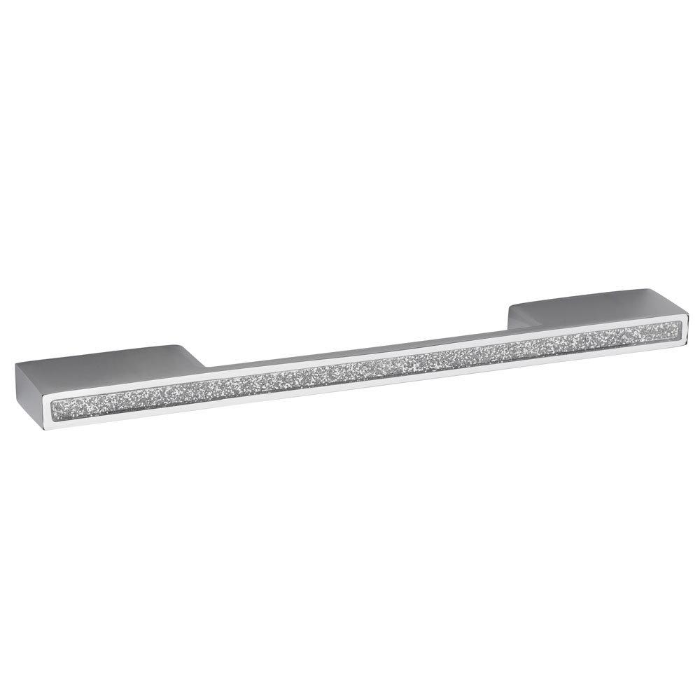 1 x Hudson Reed Sparkle Chrome Furniture Handle (200 x 25mm) - H824