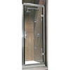 Twyford Hydr8 Hinged Shower Door - 760mm profile small image view 1