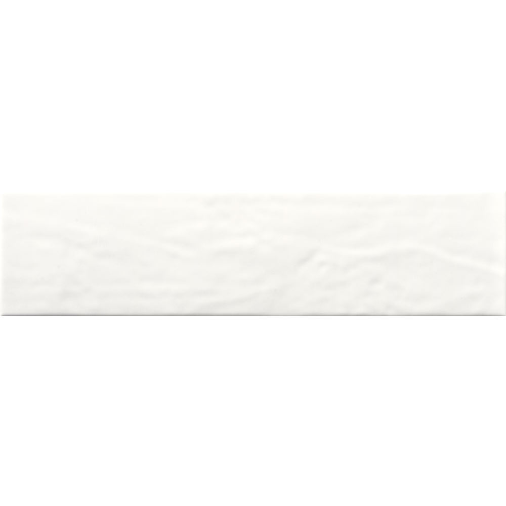 Hamilton Relief Bumpy White Gloss Wall Tiles 100 x 400mm Large Image