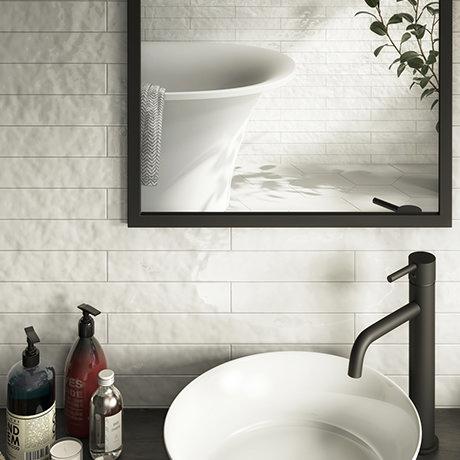 Hamilton Relief Bumpy White Gloss Wall Tiles 50 x 400mm
