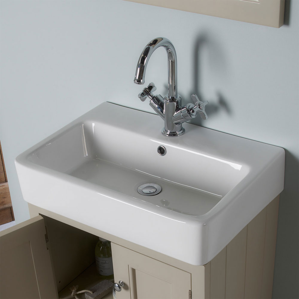 Roper Rhodes Hampton 550mm Countertop Unit & Basin - Chalk White profile large image view 2