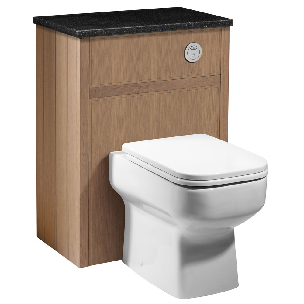 Roper Rhodes Hampton 600mm Back to Wall WC Unit - Natural Oak Large Image