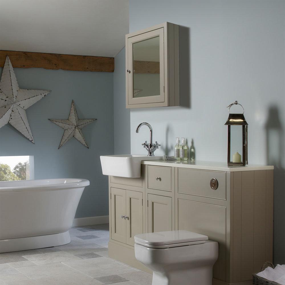 Roper Rhodes Hampton 565mm Mirror Cabinet - Mocha Profile Large Image