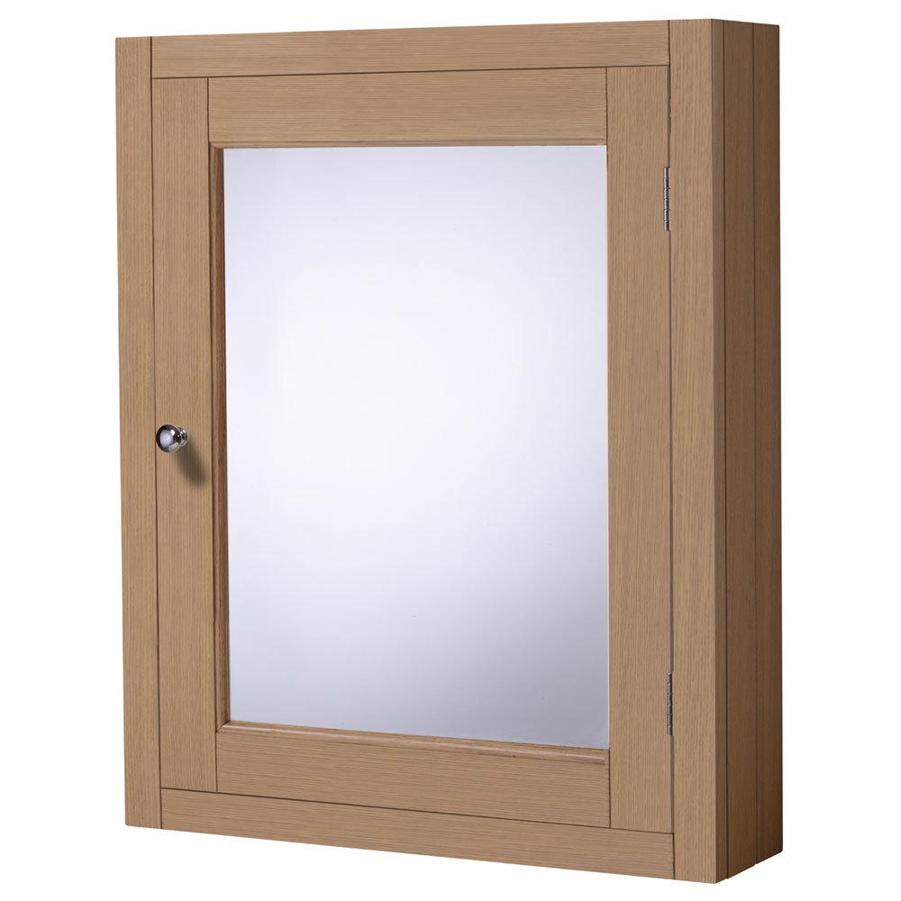 Roper Rhodes Hampton 565mm Mirror Cabinet - Natural Oak Large Image