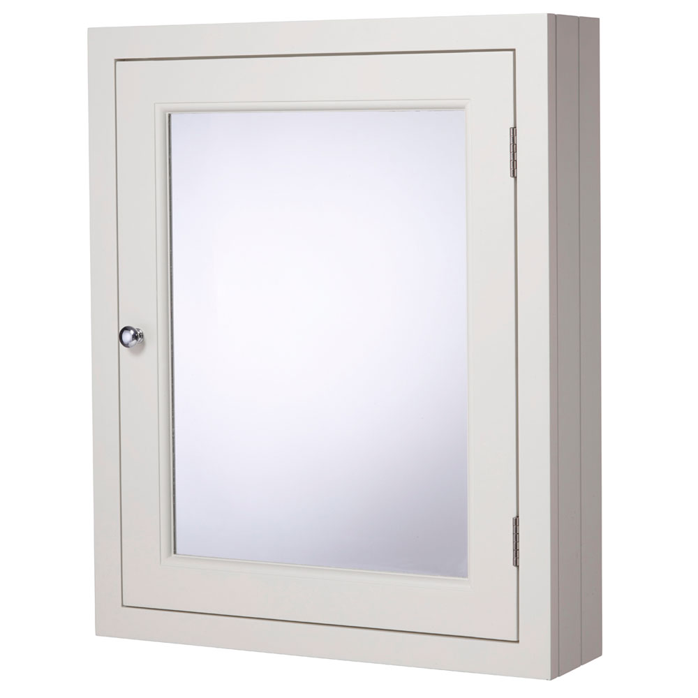 Roper Rhodes Hampton 565mm Mirror Cabinet - Chalk White profile large image view 1