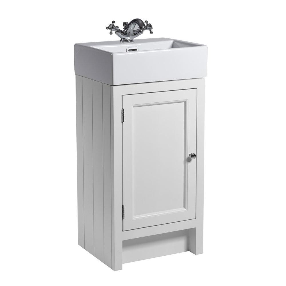 Roper Rhodes Hampton Cloakroom Unit & Basin - Chalk White Large Image