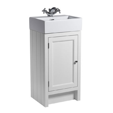 Roper Rhodes Hampton Cloakroom Unit & Basin - Chalk White
