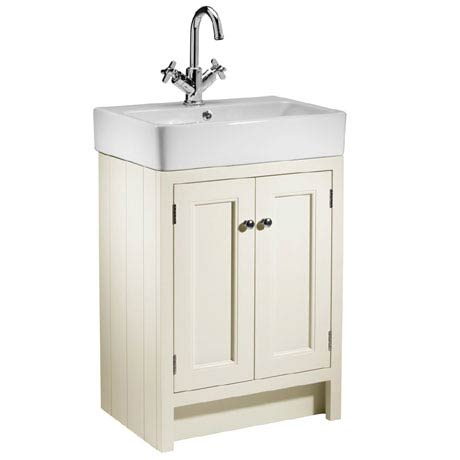 Roper Rhodes Hampton 550mm Countertop Unit & Basin - Vanilla