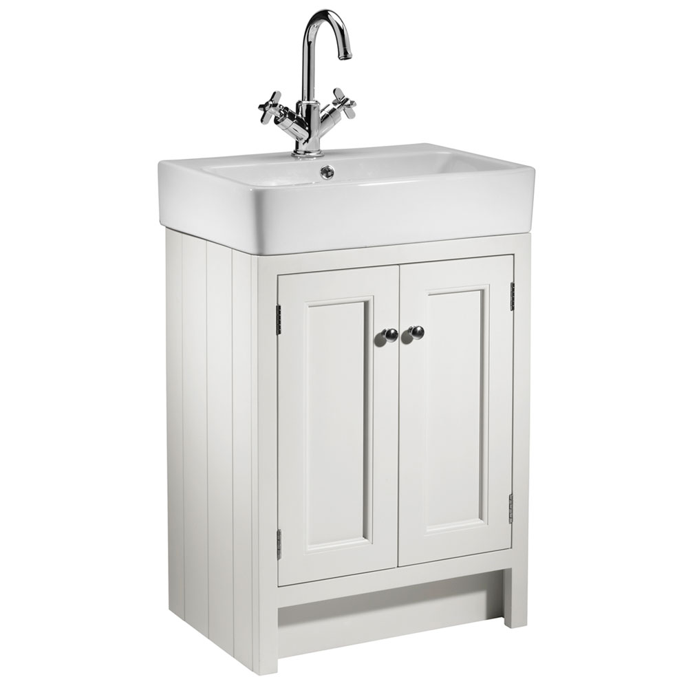 Roper Rhodes Hampton 550mm Countertop Unit & Basin - Chalk White Large Image