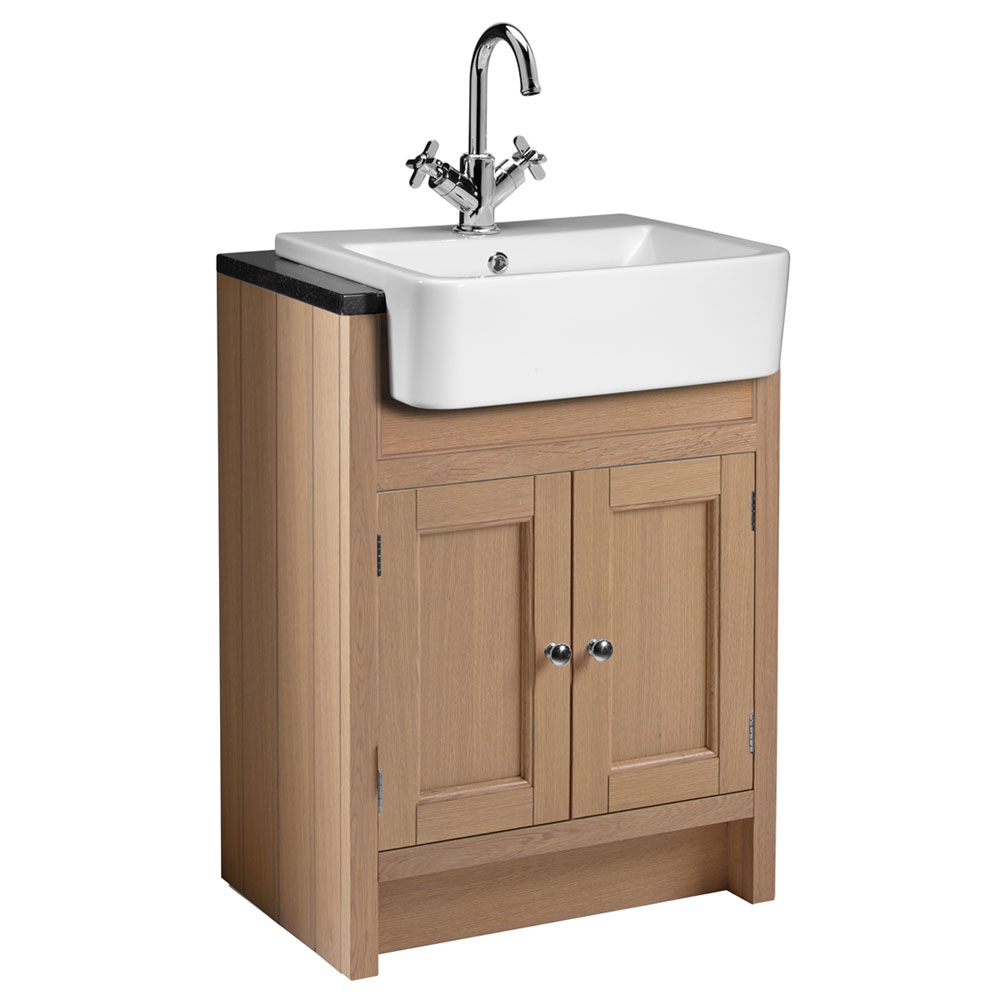Roper Rhodes Hampton 600mm Semi-Countertop Unit & Basin - Natural Oak profile large image view 1