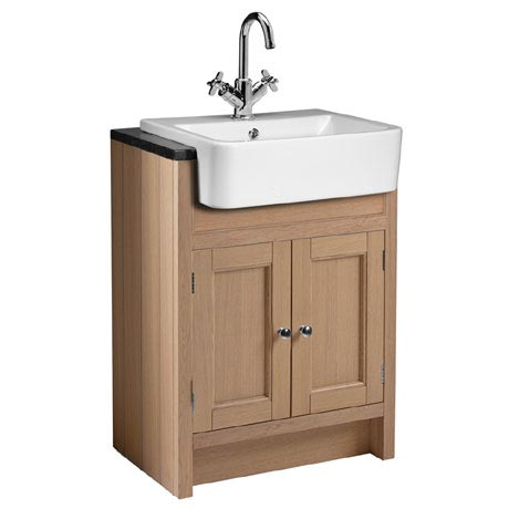 Roper Rhodes Hampton 600mm Semi-Countertop Unit & Basin - Natural Oak