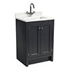 Roper Rhodes Hampton 600mm Underslung Basin Unit with Worktop & Basin - Slate Grey profile small image view 1