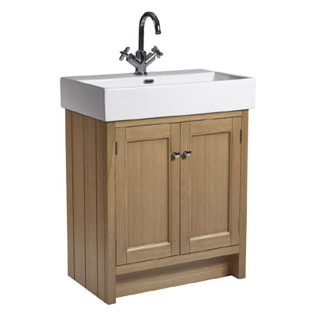 Roper Rhodes Hampton 700mm Countertop Unit & Basin - Natural Oak