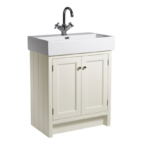 Roper Rhodes Hampton 700mm Countertop Unit & Basin - Vanilla