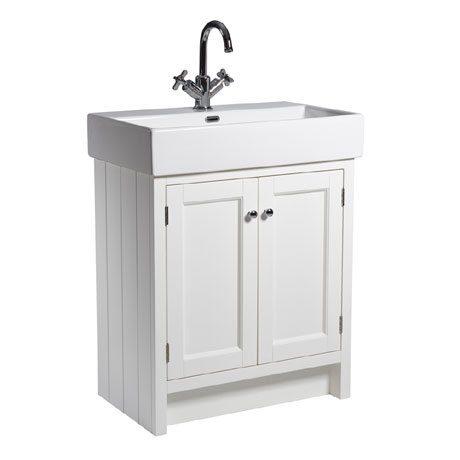 Roper Rhodes Hampton 700mm Countertop Unit & Basin - Chalk White