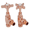 Traditional Copper Manual Radiator Valves - HAN013 profile small image view 1