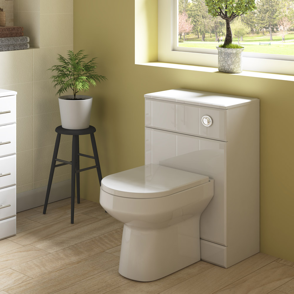 Harmony Gloss White BTW WC Unit with Cistern + Soft Close Seat W500 x D200mm profile large image view 3
